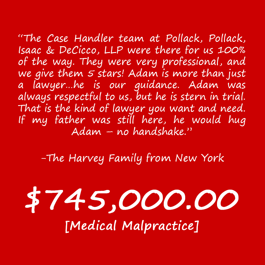 NY Medical Negligence Attorney Review The Harvey Family