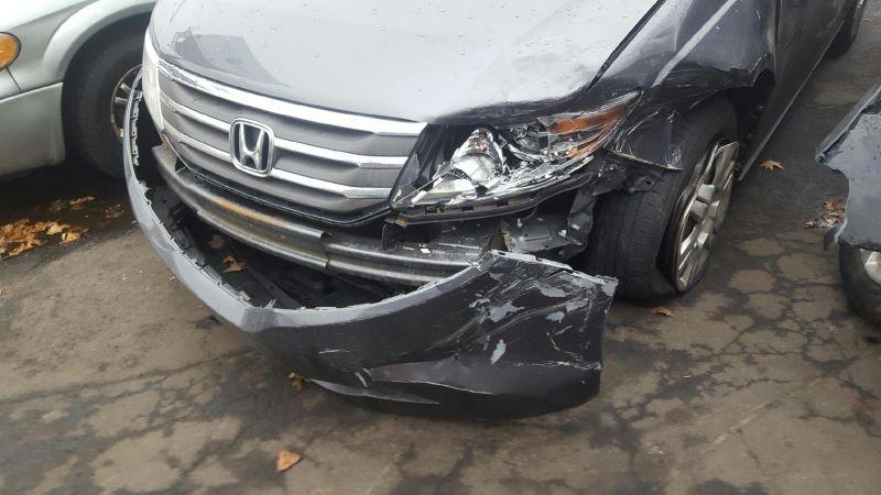 Pretty P Damaged Vehicle
