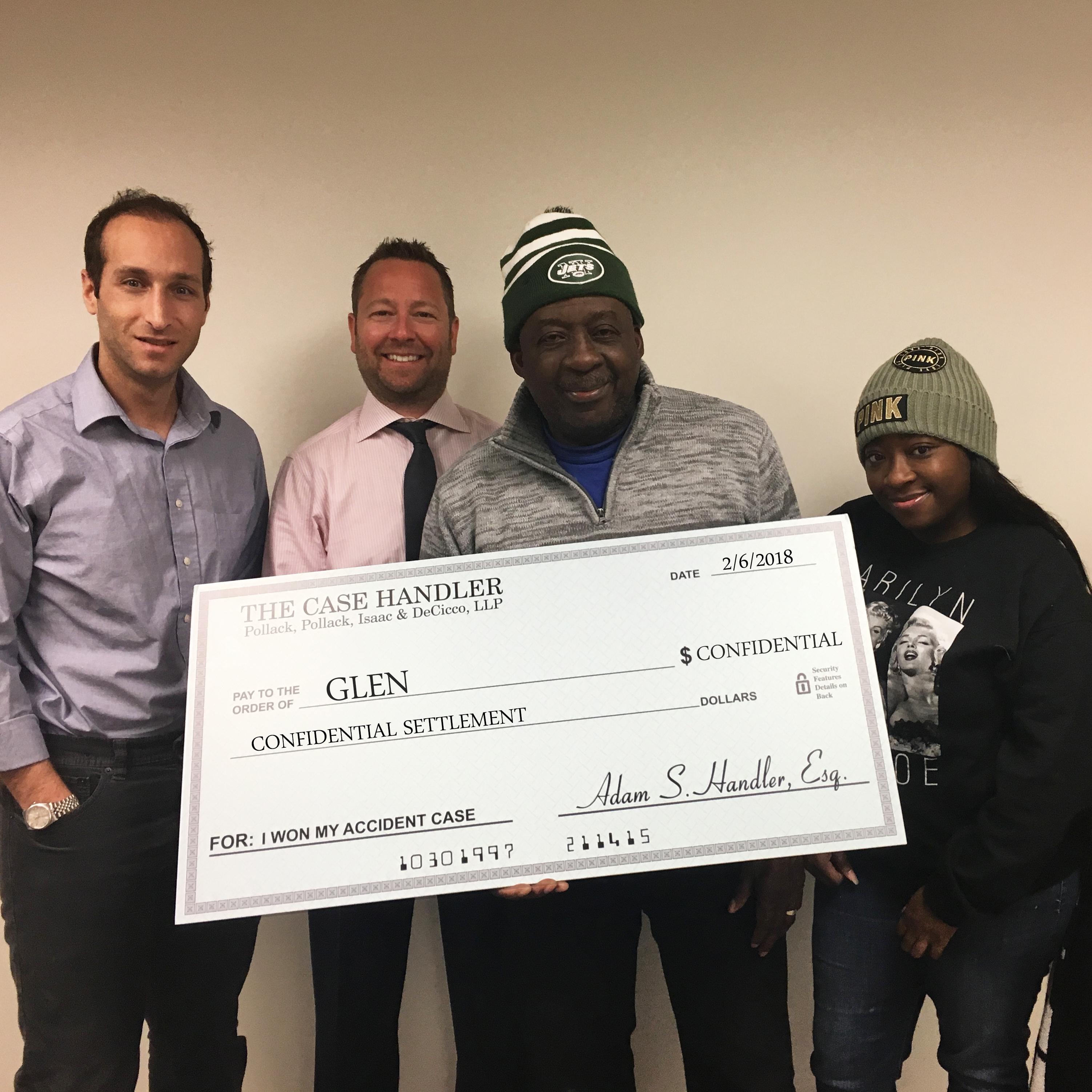 bronx accident lawyer Glen settlement day