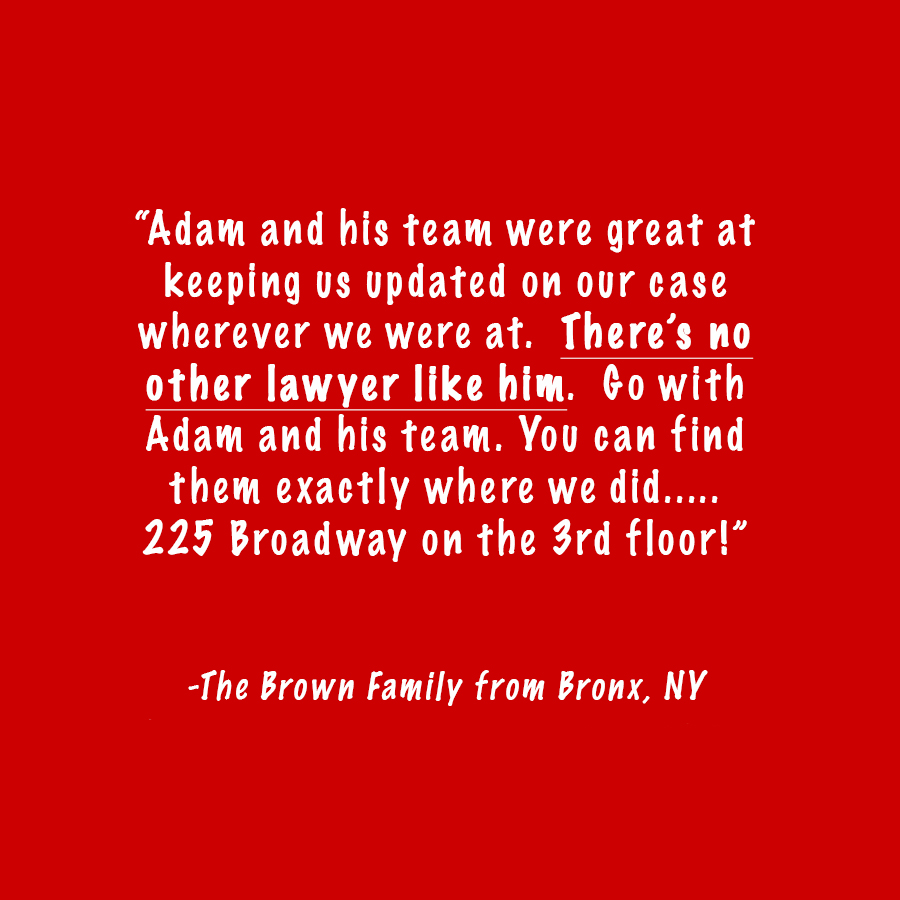 bronx family car accident lawyer review: the brown family