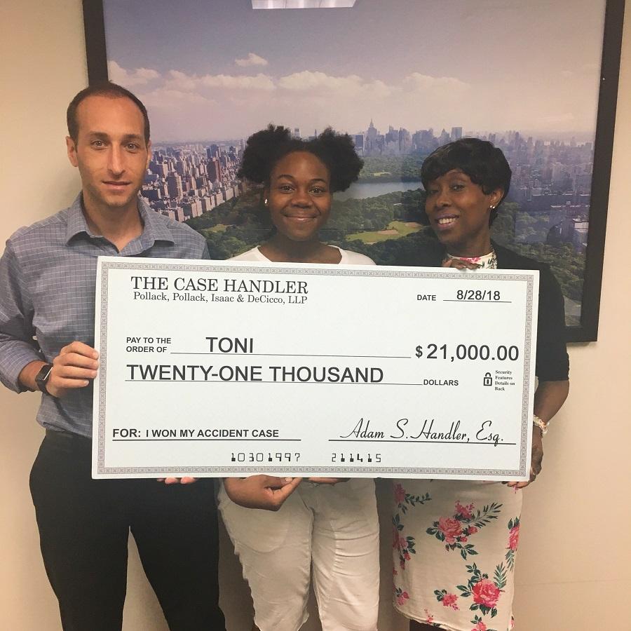 Bronx ambulance accident lawyer review Toni