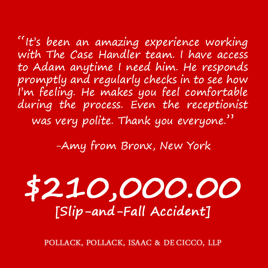 Bronx slip and fall accident attorney review amy