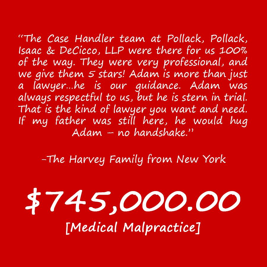 NY Medical Negligence Attorney Review The Harvey Family